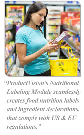 Product Management Software | Nutritional Labeling Module
